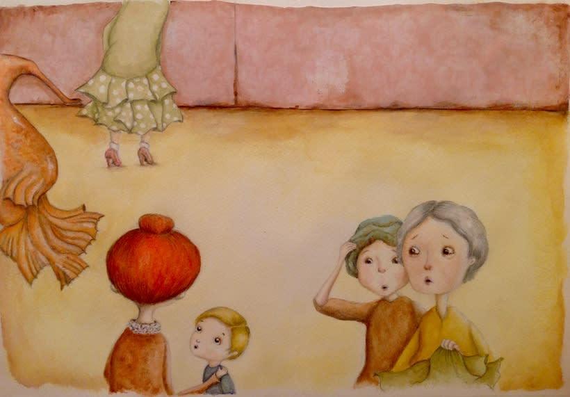 """Ilustraciones para """"La tiendecita flamenquita"""" de Ángeles Cobalea 0"""