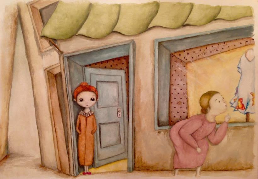 """Ilustraciones para """"La tiendecita flamenquita"""" de Ángeles Cobalea 1"""