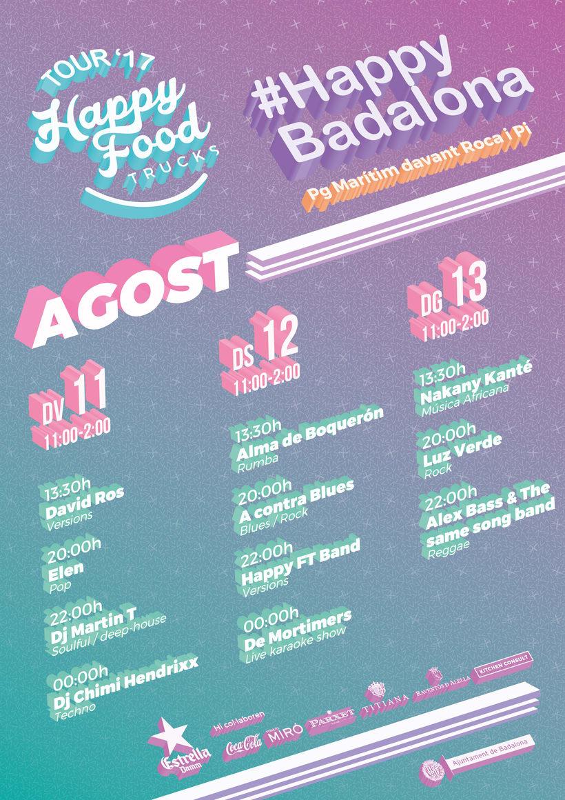 Events Happy Food Trucks - Diseño de algunos posters/banners 6