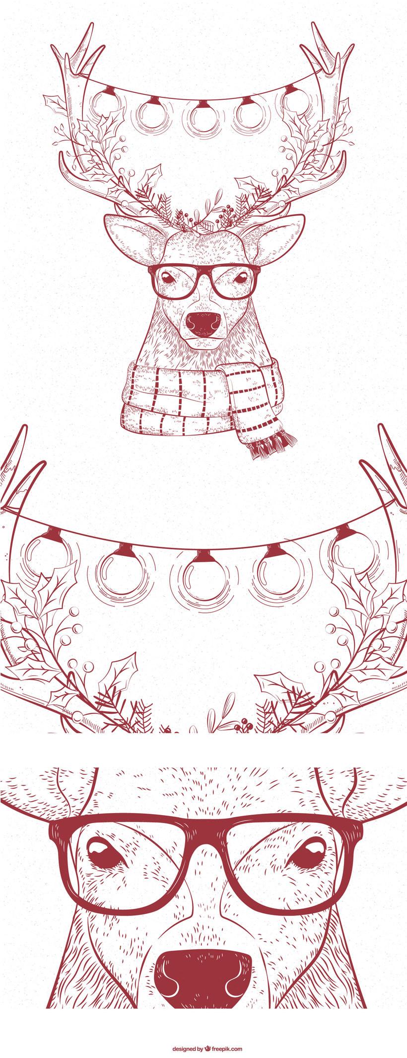 Ciervo navideño 1