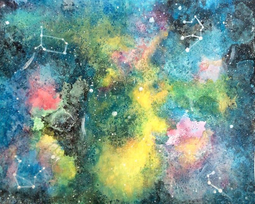 Mis proyectos de medusas y Galaxias gracias a Ana Calderon  -1
