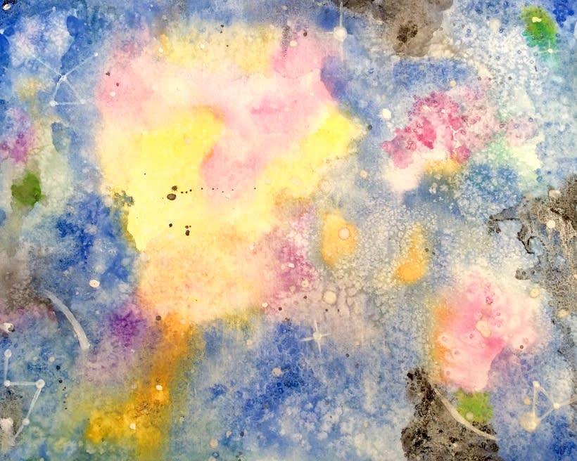 Mis proyectos de medusas y Galaxias gracias a Ana Calderon  0