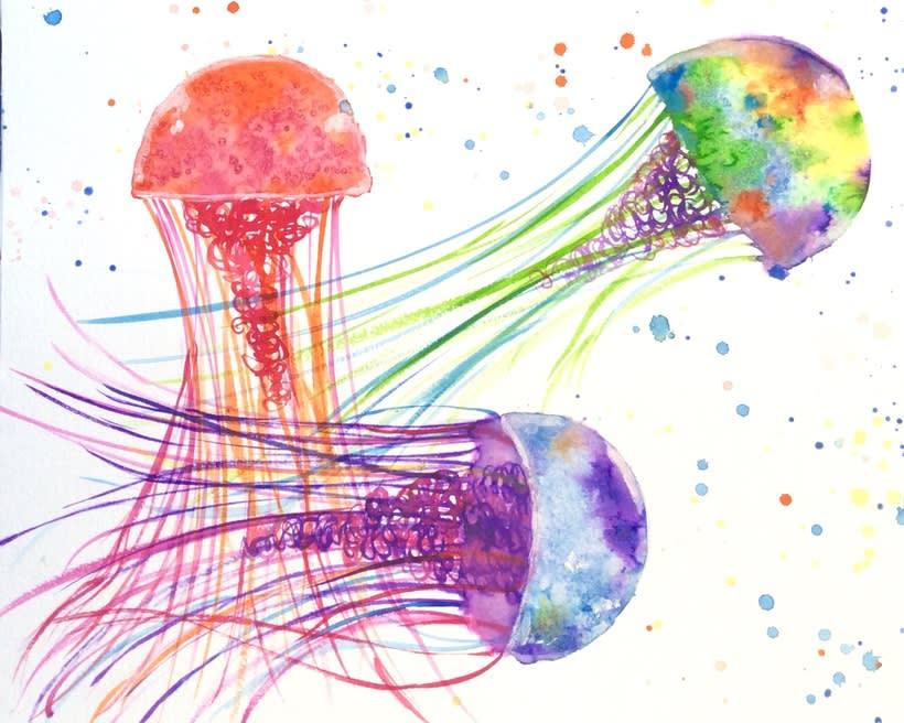Mis proyectos de medusas y Galaxias gracias a Ana Calderon  1