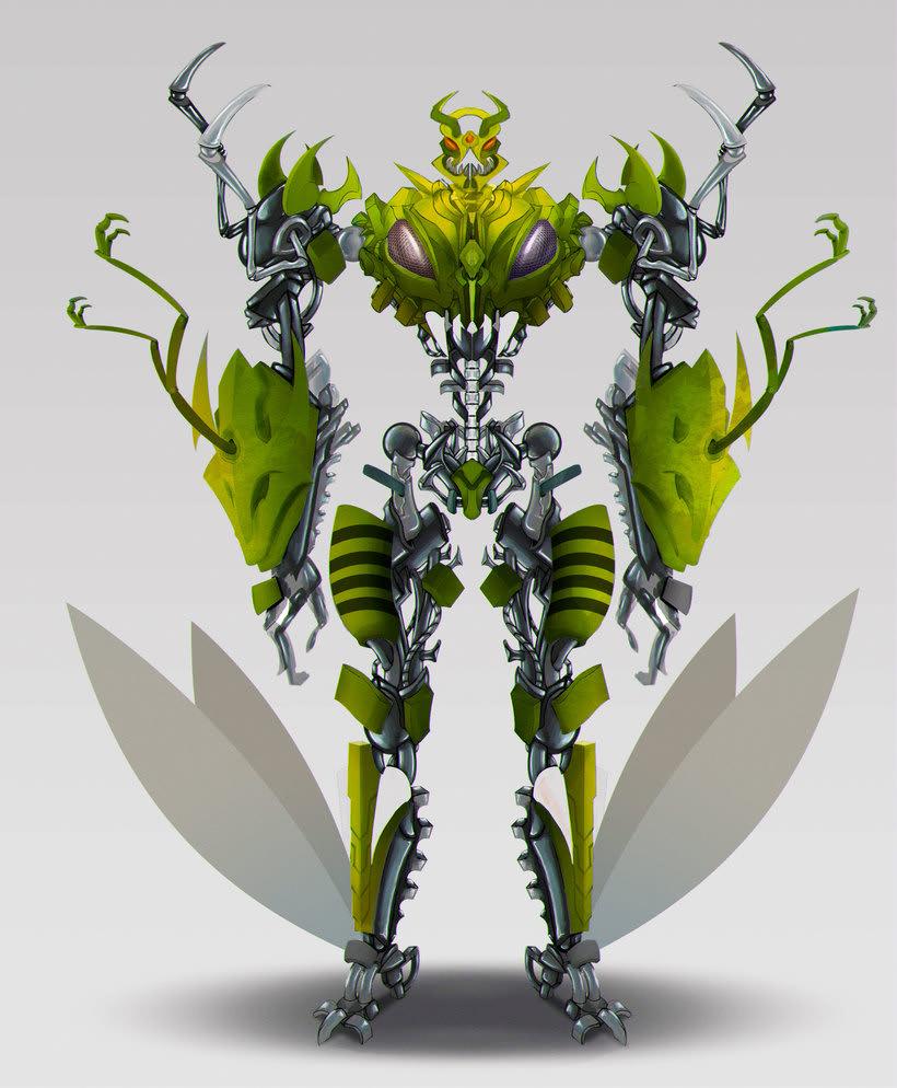 Diseño de personaje - mi versión de waspinator 1