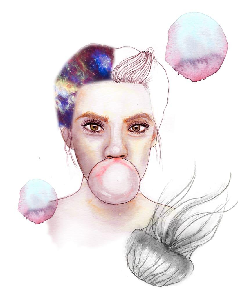 Mi Proyecto del curso: Retrato ilustrado en acuarela -1