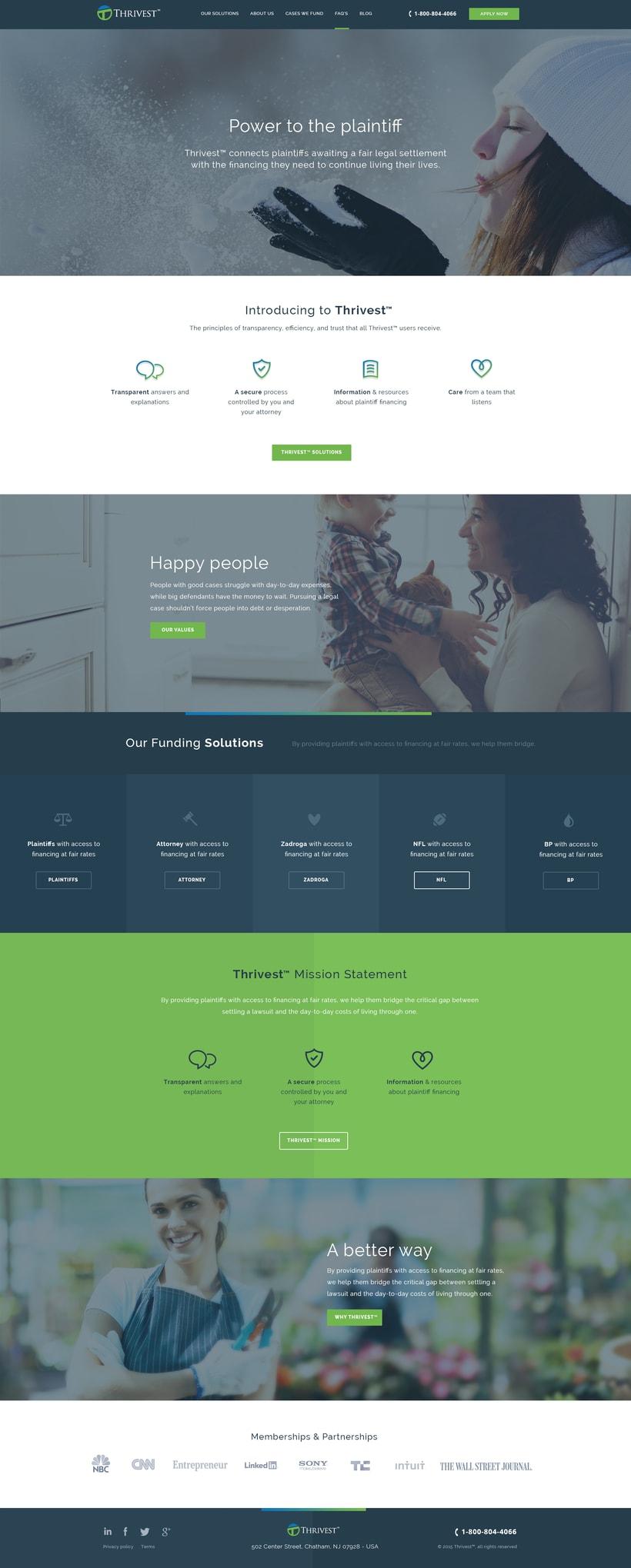 Thrivest, Legal finance website -1
