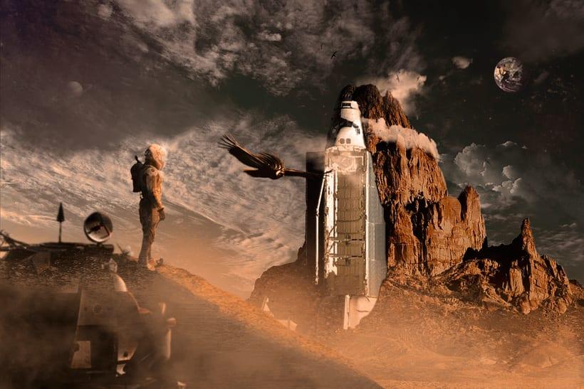 Secretos del fotomontaje y el retoque creativo: Live on Mars 1
