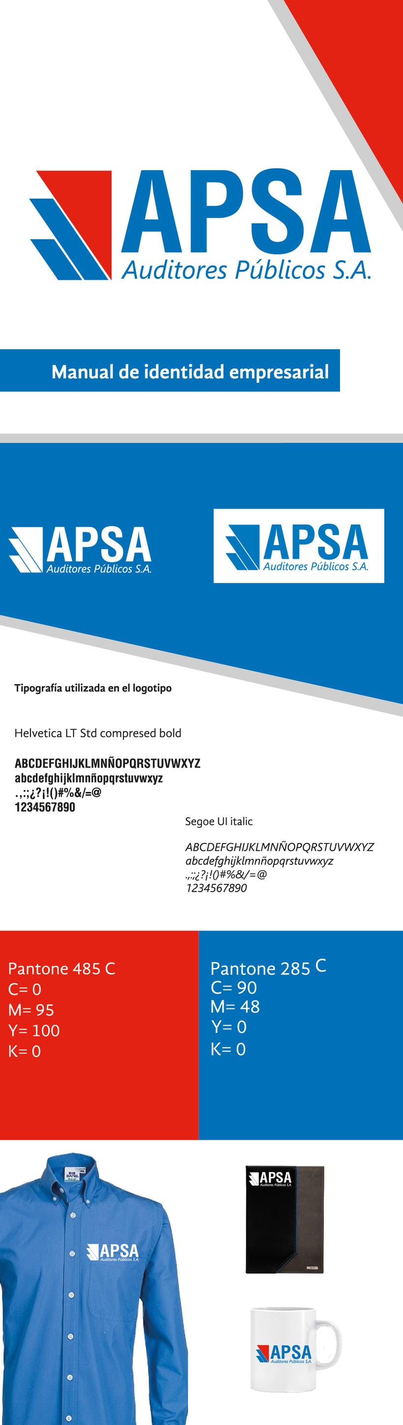 APSA, manual de identidad empresarial-Proyecto universitario 0