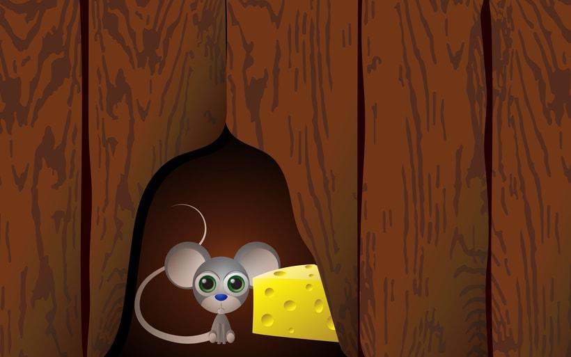 una rata asustada 0