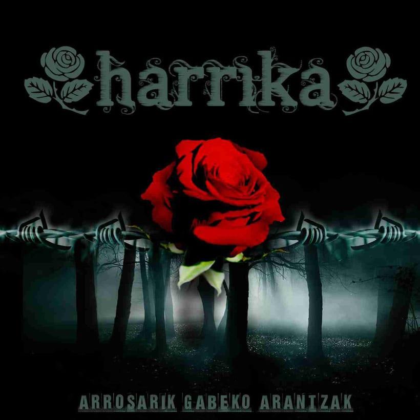 Diseño de CD grupo Harrika 1