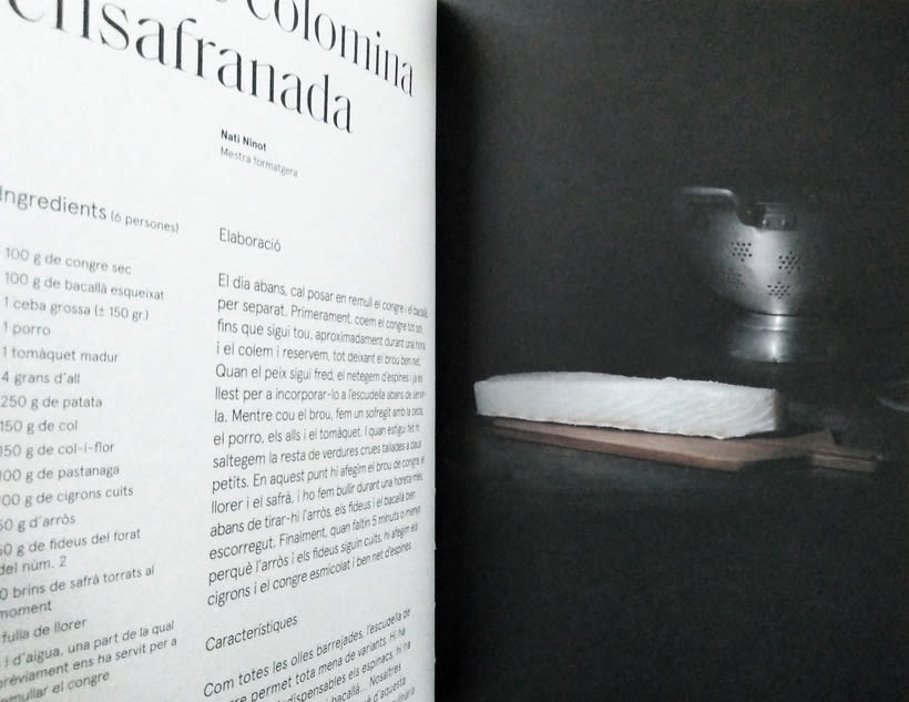 Quaderns de cultura. Fotografías para ilustrar 5 recetas del libro . 9