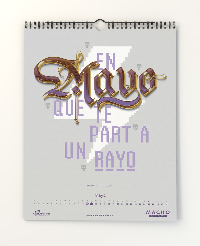 Calendario Macho Dominante 2018 7