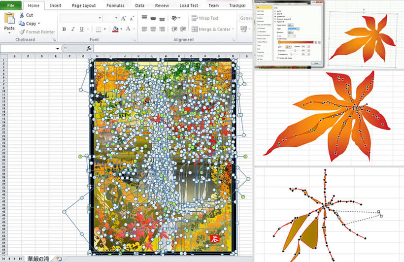 Arte creado con Microsoft Excel 3