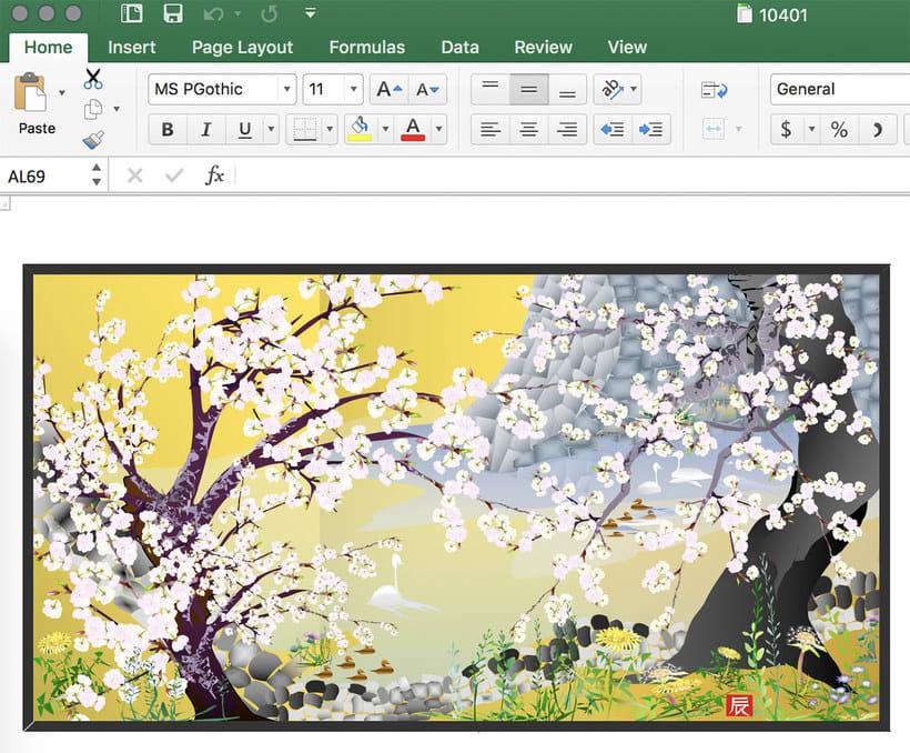 Arte creado con Microsoft Excel 8