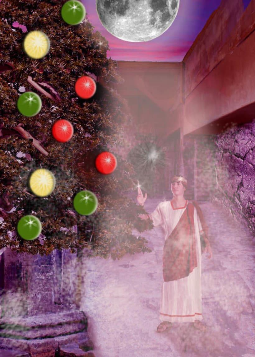 Navidad en las termas romanas de Bath -1