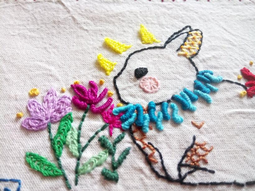 Mi Proyecto del curso: Técnicas de bordado: ilustrando con hilo y aguja -1