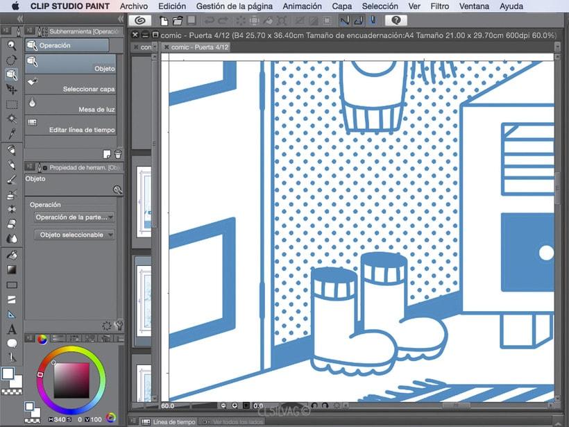 Mi Proyecto del curso: Creación de cómics con Clip Studio Paint EX - PUERTA 27