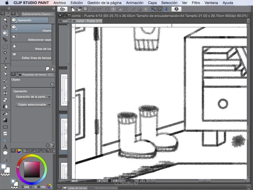 Mi Proyecto del curso: Creación de cómics con Clip Studio Paint EX - PUERTA 25