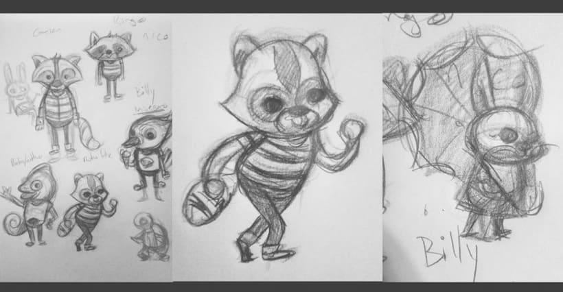 Mi Proyecto del curso: Técnicas creativas de diseño e ilustración de personajes (Caramba Friends) 5