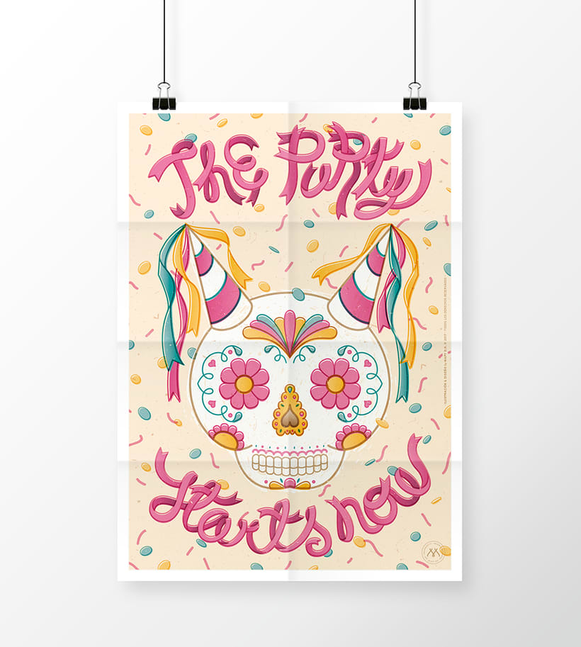 THE PARTY STARTS NOW! · Vector Lettering & illustration 0
