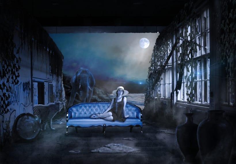 Dark Blue Girl -1