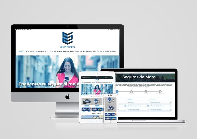 Branding & Website for SegurosCity 5