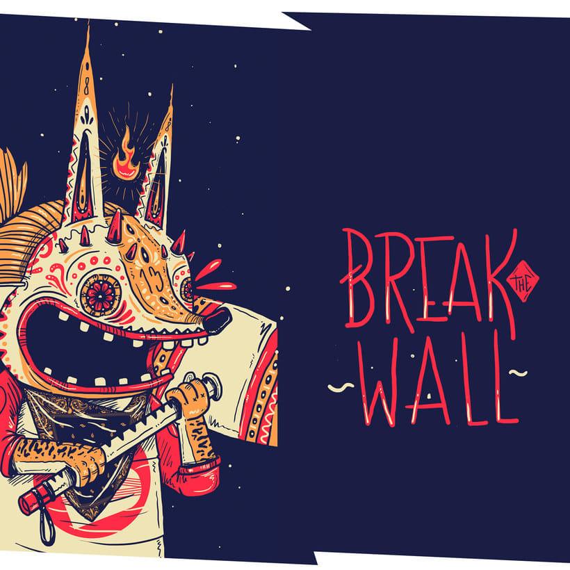 La ilustración callejera de Guacala collective 6