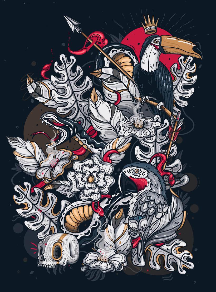 La ilustración callejera de Guacala collective 17
