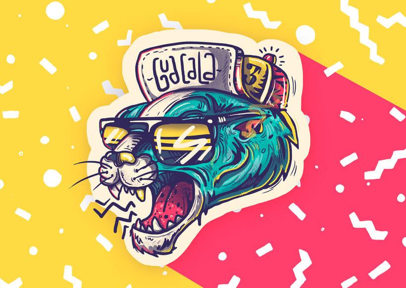 La ilustración callejera de Guacala collective 23