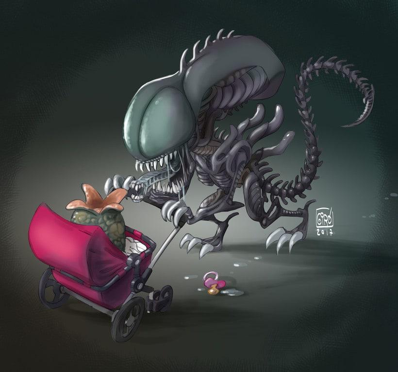 Alien e hijo. 0