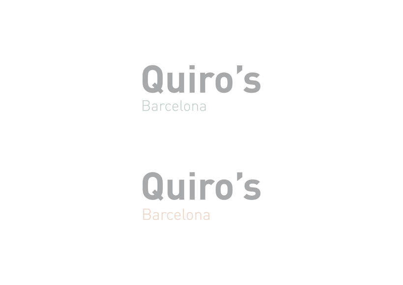 Quiro's Barcelona / Identidad Corporativa 1
