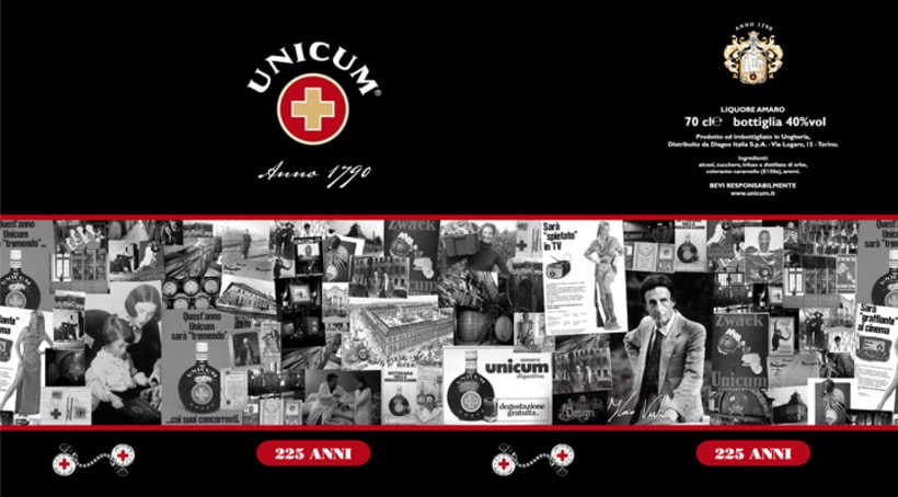 Design for the 225 anniversary Unicum limited bottle. -1