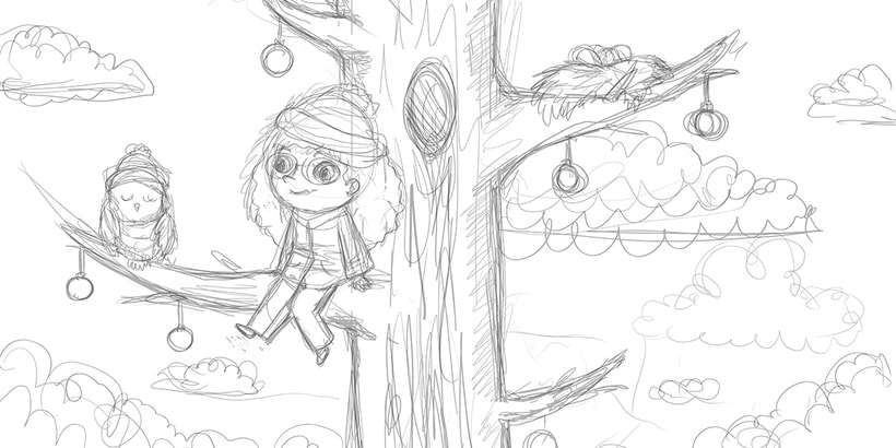 Girl in a tree 0