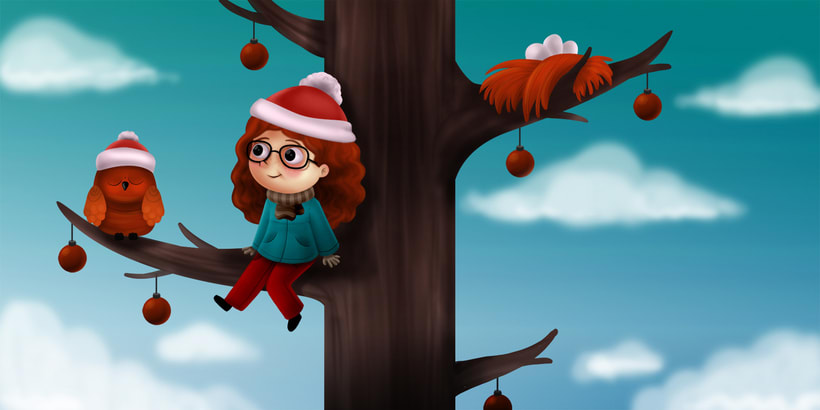 Girl in a tree 2