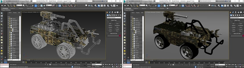 MODELADO ELIMINATOR JEEP/ 3D max /V-Ray 3