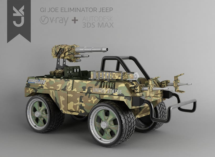 MODELADO ELIMINATOR JEEP/ 3D max /V-Ray 0