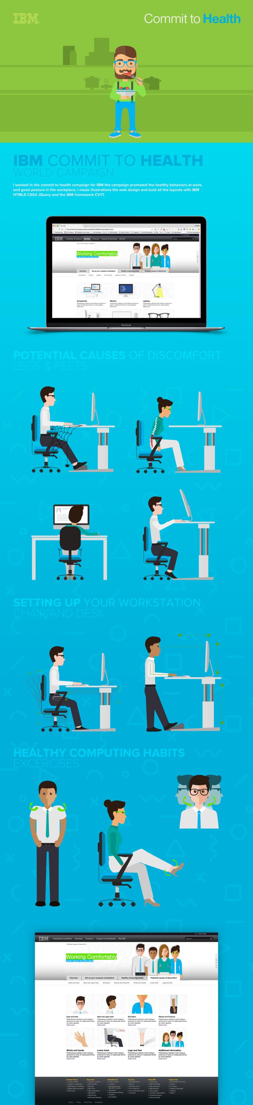 Web design, illustrations & Layout for IBM -1