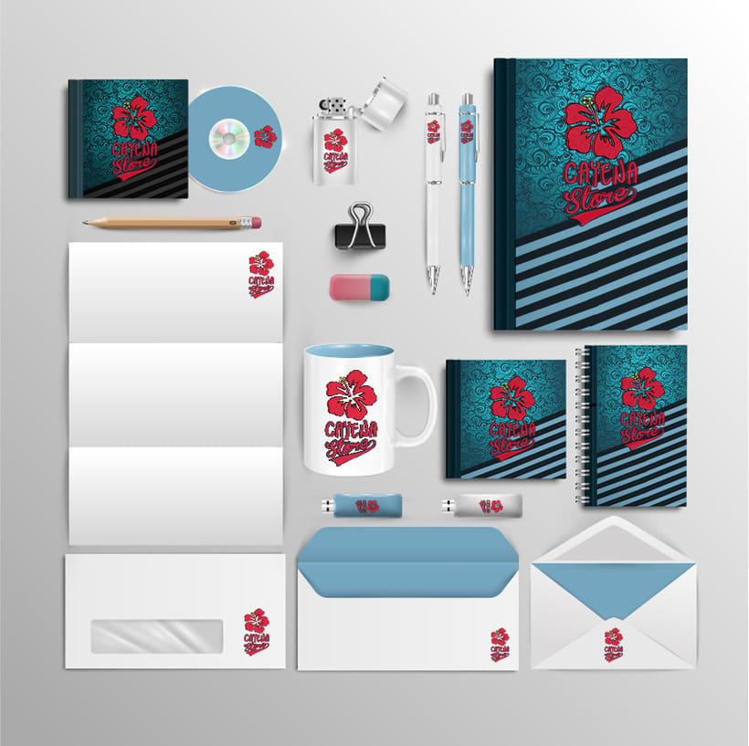Creación y animación de logo para Cayena Store   Branding 0