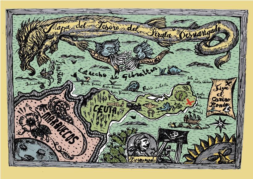 El Mapa del Tesoro del Pirata Desnarigado\