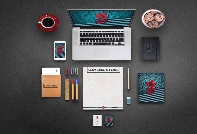 Creación y animación de logo para Cayena Store   Branding 2
