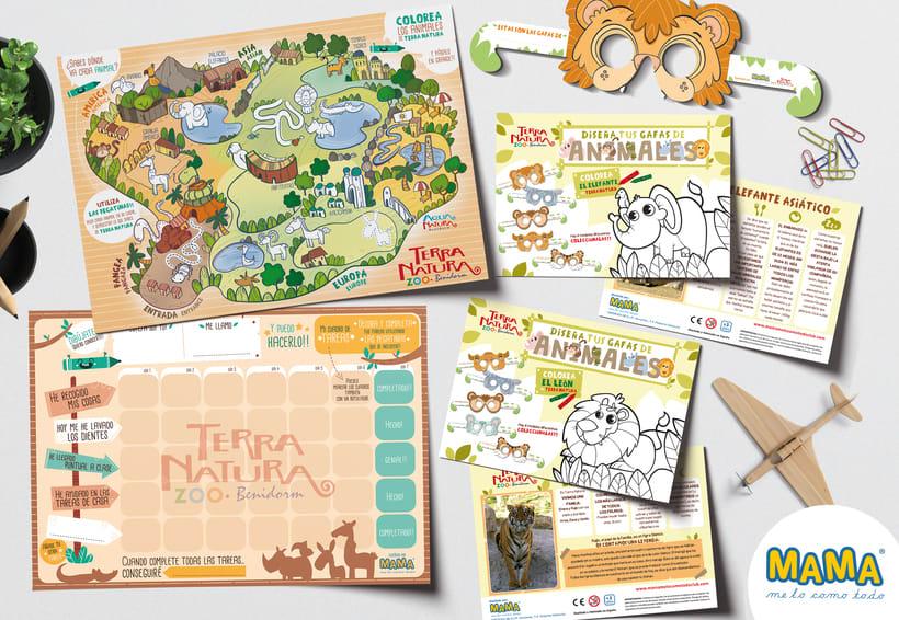 Actividades Terra Natura. Ilustración infantil 2