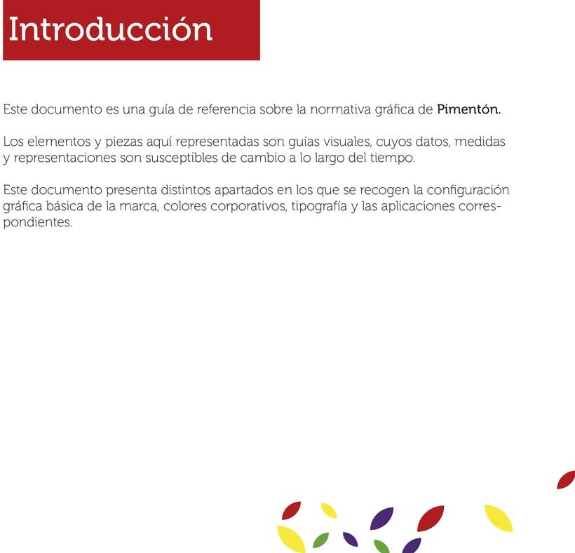 """Manual de Identidad Corporativa """"Pimentón"""" 2"""