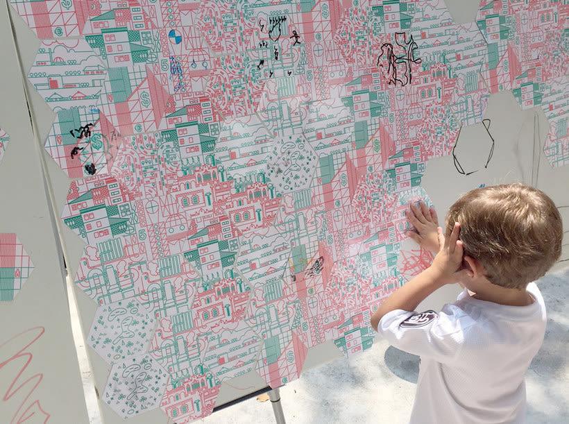 Ilustración y diseño urbanístico para niños 5