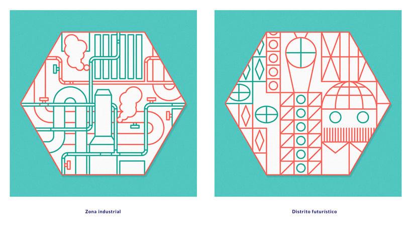 Ilustración y diseño urbanístico para niños 6