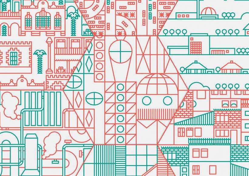 Ilustración y diseño urbanístico para niños 7