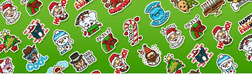 Happy Holidays set | Stickers for Kik Messenger -1