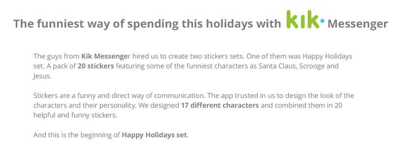 Happy Holidays set | Stickers for Kik Messenger 0