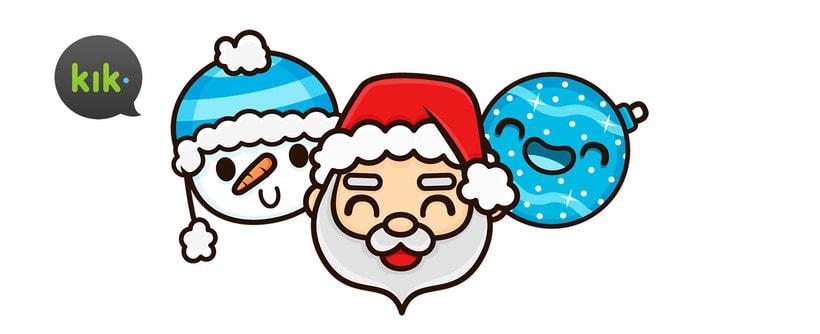 Happy Holidays set | Stickers for Kik Messenger 1