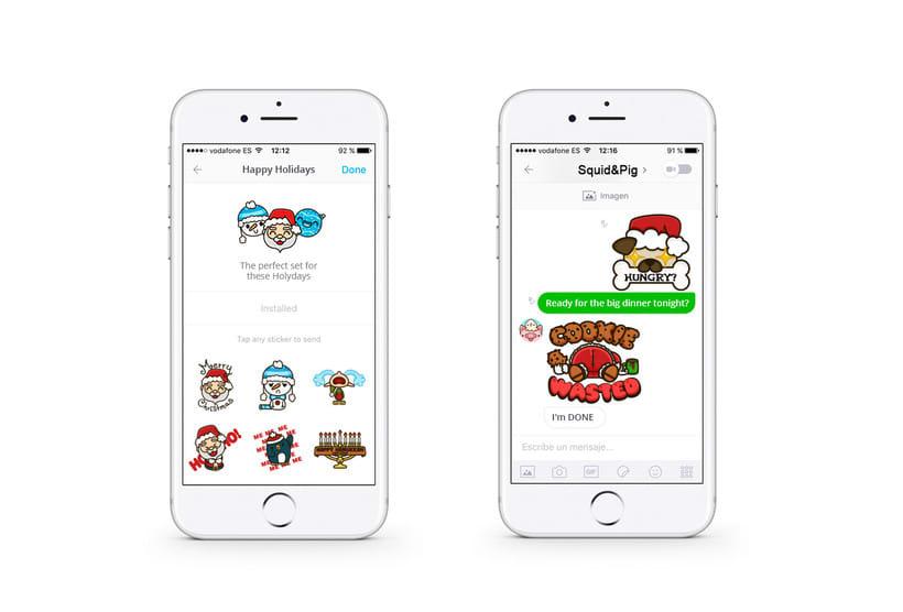 Happy Holidays set | Stickers for Kik Messenger 2