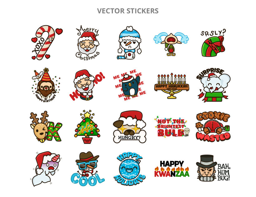 Happy Holidays set | Stickers for Kik Messenger 3